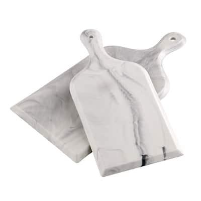Marble Grey Porcelain Serve Board (Set of 2)
