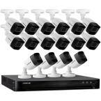 Ultra HD 4K (8MP) 16 Channel 4TB DVR Wired Security Camera System with Remote Viewing and 16 Cameras