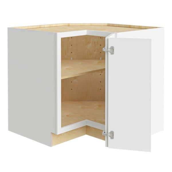 Home Decorators Collection Wchester Light Vespar White Thermofoil Plywood Shaker Stock Semi Custom Base Kitchen Cabinet 36 In W X 24 In D Ezr36r Wvw The Home Depot