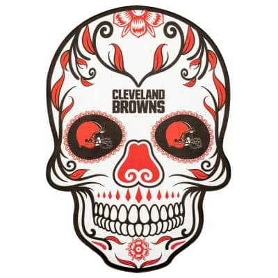 NFL Cleveland Browns Outdoor Skull Graphic- Small