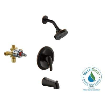 Middleton Transitional Single-Handle 3- -Spray Tub and Shower Faucet in Oil Rubbed Bronze (Valve Included)