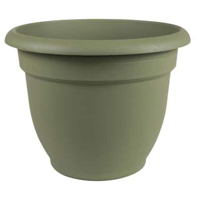 Ariana 16 in. Living Green Plastic Self-Watering Planter