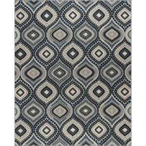 Majesty Navy 8 ft. 9 in. x 12 ft. 3 in. Area Rug