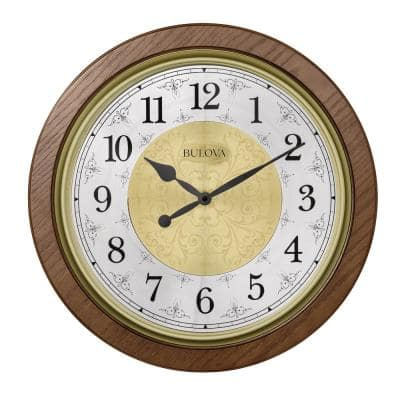 Solid Hardwood Case 21 in. Wall Clock with Harmonic Chimes