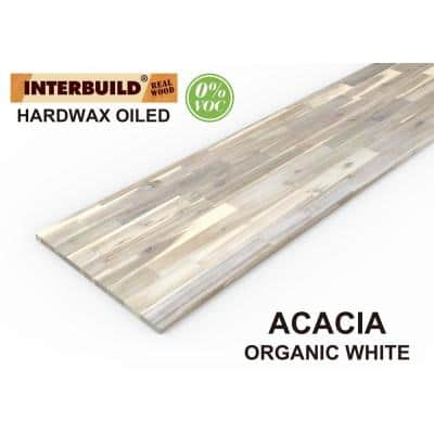 Acacia 6 ft. L x 25 in. D x 1.5 in. T Butcher Block Countertop in Dusk Grey Stain