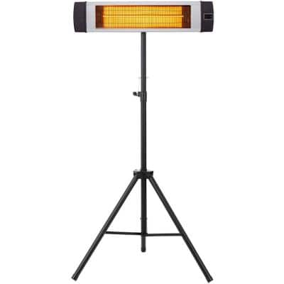 34.6 in. 1500-Watt Electric Carbon Infrared Heat Lamp with Remote Control and Tripod Stand