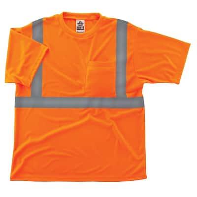 GloWear 8289 3X-Large Hi Vis Orange Type R Class 2 T-Shirt