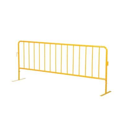 Heavy Duty Yellow Steel Crowd Control Interlocking Barrier with Both Flat Feet