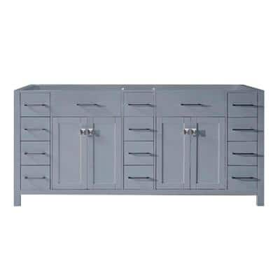 Caroline Parkway 72 in. W Bath Vanity Cabinet Only in Gray