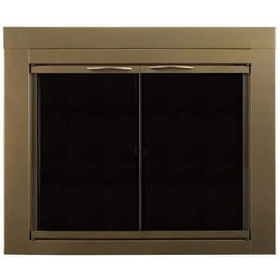 Ashlynn Small Glass Fireplace Doors