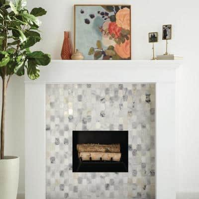 Restore Dove Mixed Finish 11 in. x 12 in. x 8 mm Marble Mosaic Floor and Wall Tile (0.87 sq. ft./ Each)