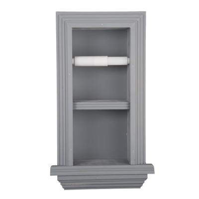 Newton Recessed Toilet Paper Holder 18 Holder in Primed Newport with Ledge Frame in Gray