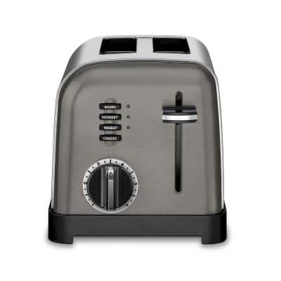 Classic Series 2-Slice Black Stainless Steel Toaster