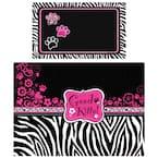 Exotics Pink Zebra Multi-Use Pet Mat (Set of 2)