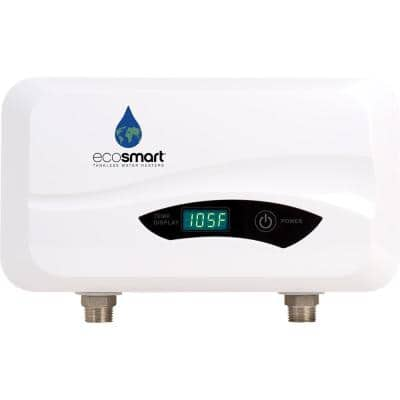 POU 3.5 Point-of-Use Flow Controlled Tankless Electric Water Heater 3.5 kW 120 V