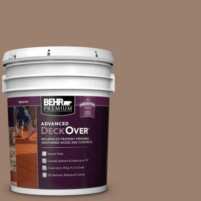 5 gal. #SC-148 Adobe Brown Smooth Solid Color Exterior Wood and Concrete Coating