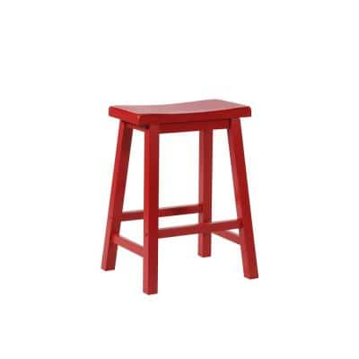 Powell Company 24 In Crimson Bar Stool 286 430 The Home Depot