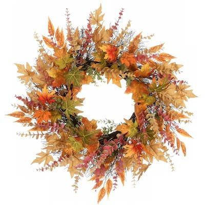 30 in. Harvest Maple and Eucalyptus Wreath