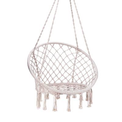 53 in. L 330 lbs. Capacity Hanging Hammock Chair
