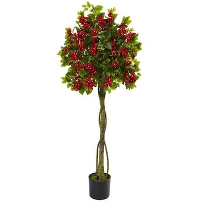 5 ft. Bougainvillea Artificial Topiary Tree