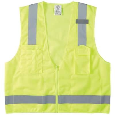 Safety Vest, High-Visibility Reflective Vest, XL