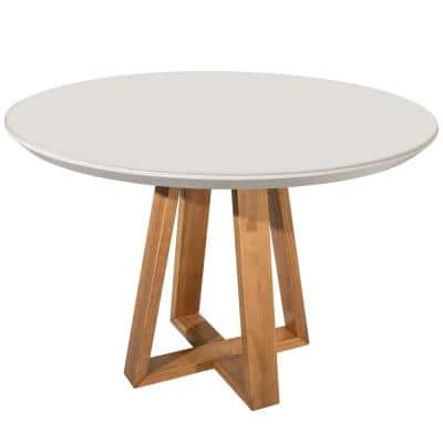 Rochelle Off White 45.27 in. Round Dining Table