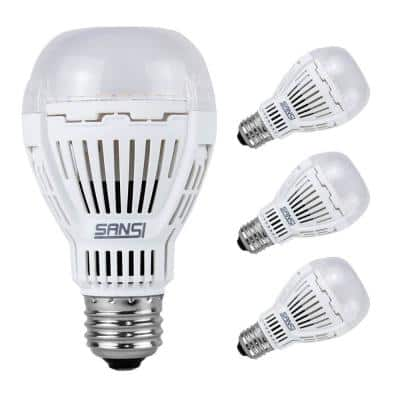 150-Watt Equivalent A19 Non-Dimmable 2000 Lumens LED Light Bulb Warm White in 3000K (4-Pack)