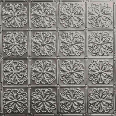 Pattern #27 in Unfinished 2 ft. x 2 ft. Nail Up Tin Ceiling Tile (20 sq. ft./Case)