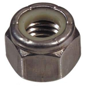 Hillman 3 8 16 Stainless Steel Nylon Insert Stop Nut 8 Pack 2993 The Home Depot