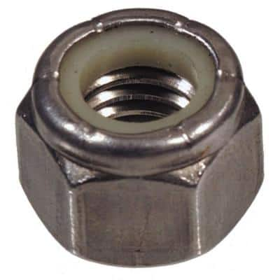 """1/4""""-20 Stainless Steel Nylon Insert Stop Nut (15-Pack)"""