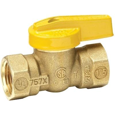 1/2 in. Brass FIP x FIP Lever Handle Gas Ball Valve