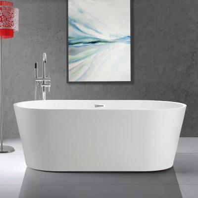 Bordeaux 67 in. Acrylic Flatbottom Freestanding Bathtub in White