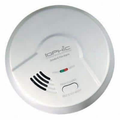 9V Battery Operated Dual Sensing 2-In-1 Smoke And Fire Detector With Microprocessor Intelligence