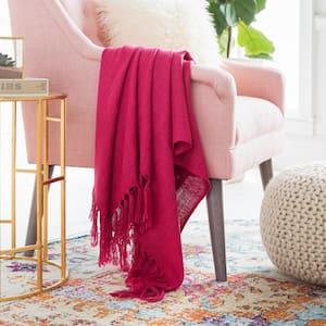 Montevallo Bright Pink Throw Blanket