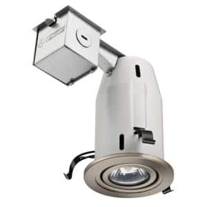 3 in. Brushed Nickel Recessed Gimbals LED Lighting Kit