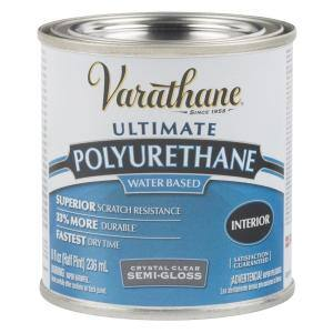 8 oz. Clear Semi-Gloss Water-Based Interior Polyurethane (4-Pack)