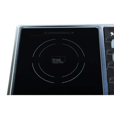 25 in. Induction + Gas Combo Cooktop Stainless Steel and Glass with 1 Induction + 2 Gas Burners