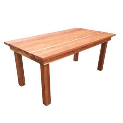 Farmhouse 8 ft. Redwood Outdoor Dining Table