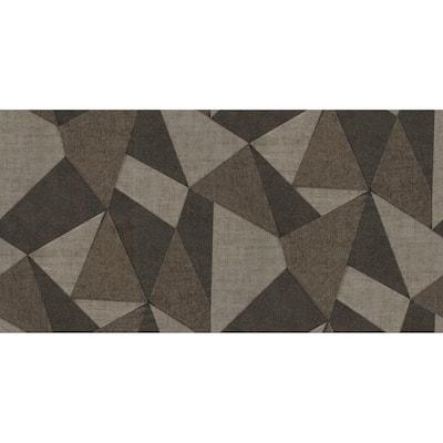 Vance Beige Prism Coffee Wallpaper Sample