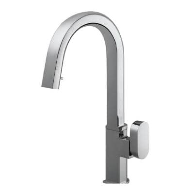 Azura Single-Handle Hidden Pull Down Sprayer Kitchen Faucet with CeraDox Technology in Polished Chrome