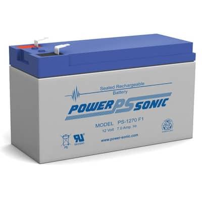 12-Volt 7 Ah F1 Terminal Sealed Lead Acid (SLA) Rechargeable Battery
