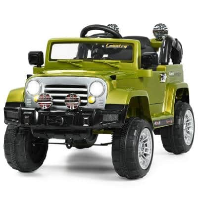 12-Volt MP3 Kids Ride On Truck Car RC Remote Control with LED Lights Music Green