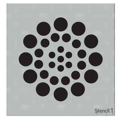 Asian Dots Small Stencil