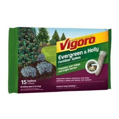 4.2 lb. All Season Evergreen and Holly Fertilizer Spikes (15-Count)