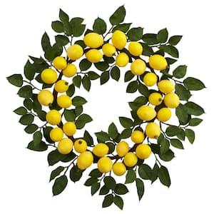 24 in. Lemon Wreath