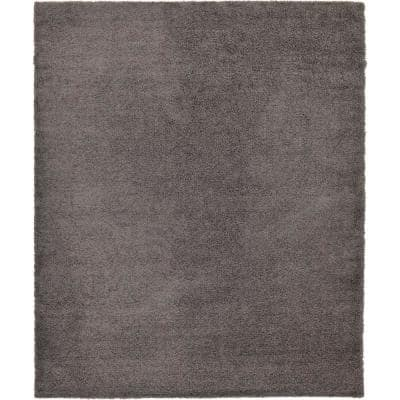 Solid Shag Graphite Gray 12 ft. x 16 ft. Area Rug