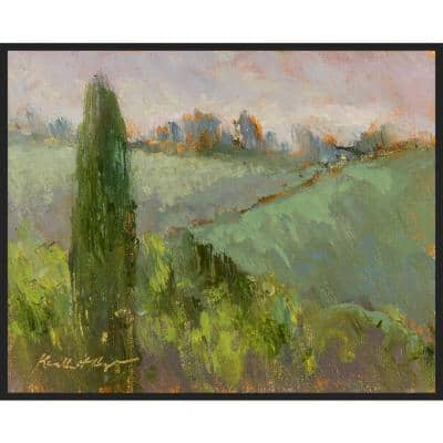 Misty Day at La Consuma , Framed Wall Art, 41 in x 31 in