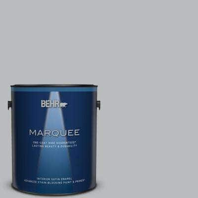1 gal. #PPU18-05 French Silver One-Coat Hide Satin Enamel Interior Paint & Primer