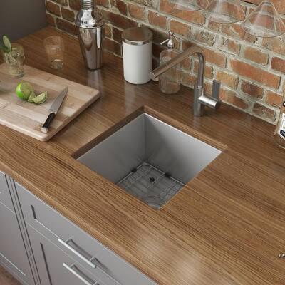 Nesta 16 Gauge Stainless Steel 13 in. Undermount Bar Sink
