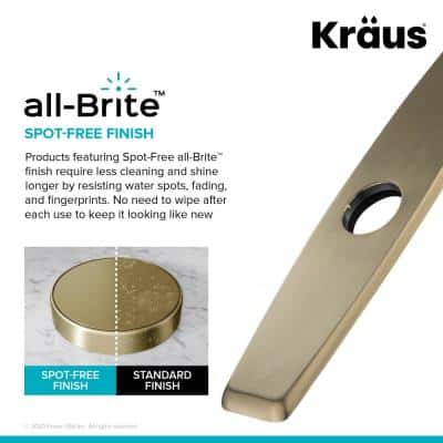10.25 in. Kitchen Faucet Single Hole Deck Plate in Spot Free Antique Champagne Bronze